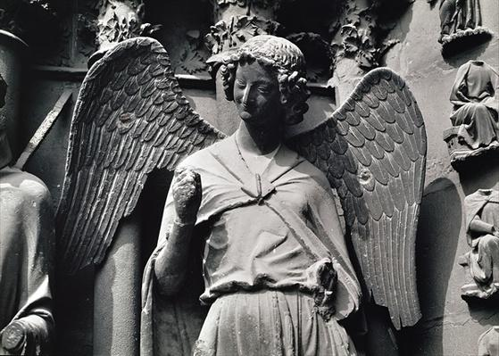 The Angel with a Smile, jamb figure from the west portal
