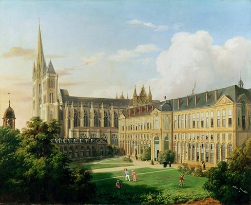 The Abbey Church of Saint-Denis and the School of the Legion of Honour in 1840