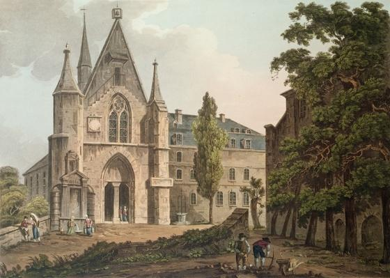The College de Navarre in Paris, engraved by I. Hill, 1809