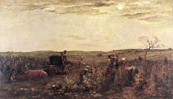 The Wine Harvest in Burgundy, 1863