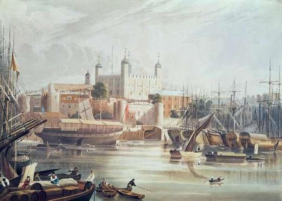 View of the Tower of London, engraved by Daniel Havell