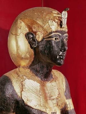 Life size statue of Tutankhamun, from the Tomb of Tutankhamun