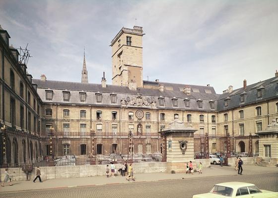 Facade of the Hotel de Ville, the former Palais des Etats de Bourgogne