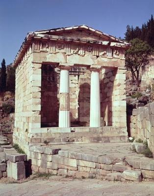 View of the Temple of the Treasures of the Athenians