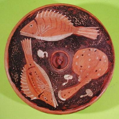 Dish decorated with fish, from Vulci