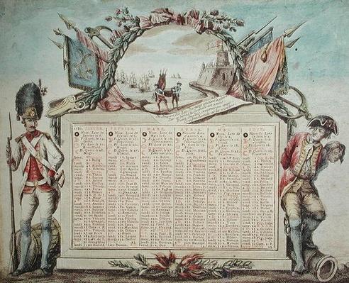 Calendar for 1780