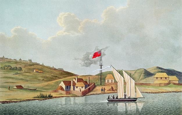 English Missionaries in Kidikidi, New Zealand, from 'Voyage Autour du Monde sur les Corvettes de l'Uranie 1817-20' by Louis Claude de Freycinet