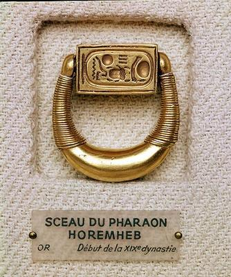 Ring with the seal of General Horemheb