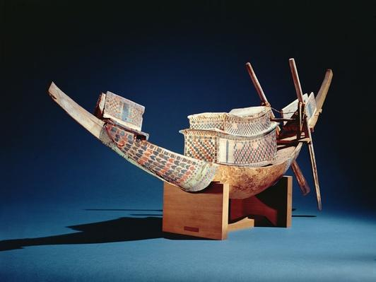 Reduced model of a boat from the Tomb of Tutankhamun, New Kingdom, c.1347-37 BC