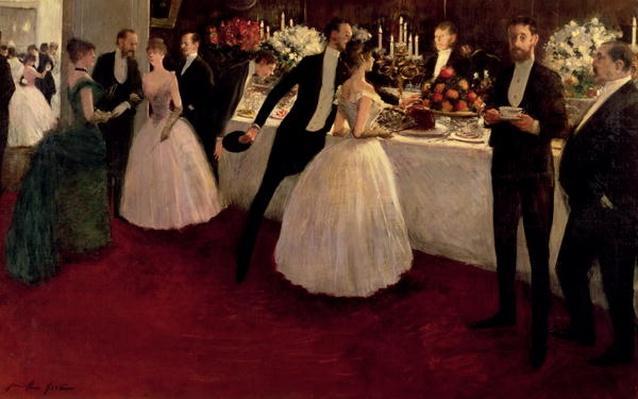 The Buffet, 1884