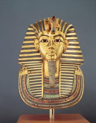The funerary mask of Tutankhamun