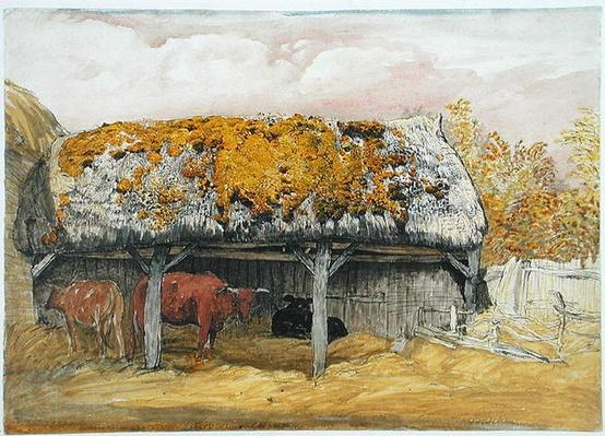 A Cow Lodge with a Mossy Roof, c.1829