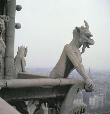 Gargoyle from the balustrade of the Grande Galerie, replica of a 12th century original