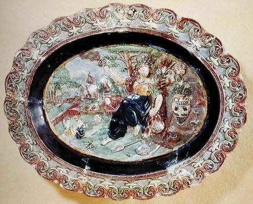 Dish depicting Flora