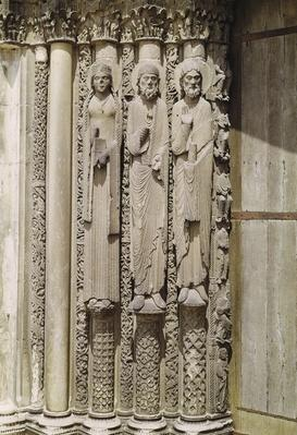 Old testament figures, from the royal portal of the west facade, c.1145-50