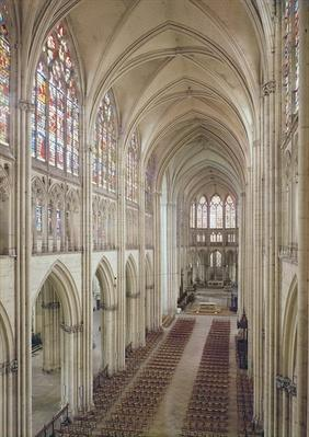 View of the nave and the choir, built 1314-15th century