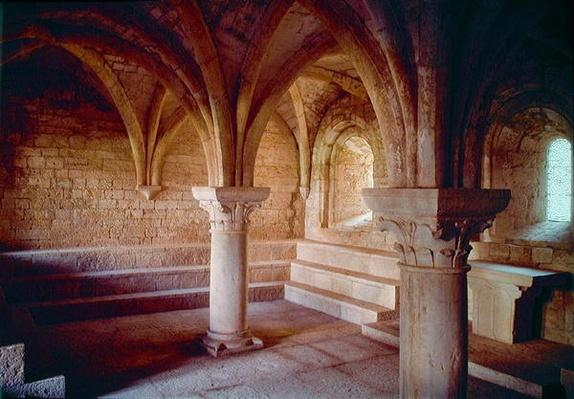 Interior of the chapter house of the Cistercian abbey, founded in 1146