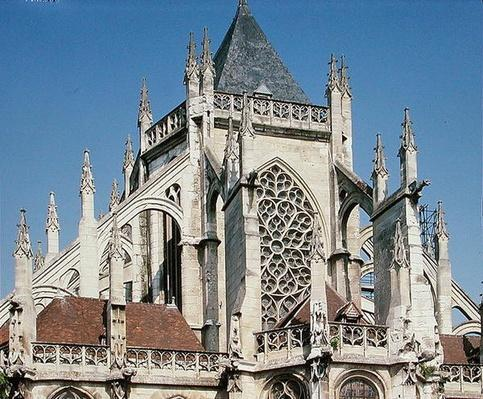 View of flying buttresses