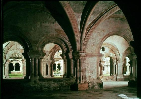Interior view of the cloister from the chapter house