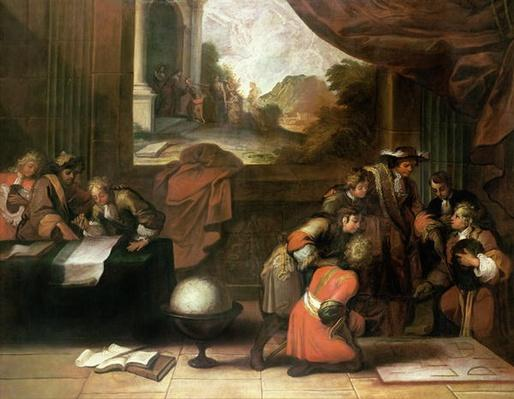 Interior of a Room with Geographers and Mathematicians, c.1680-90