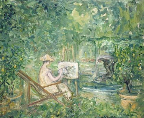 Woman Painting in a Landscape, 1900-10 by Laprade, Pierre (1875-1931)