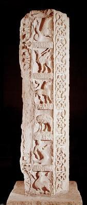 'Calendrier de Saison' pillar depicting fantastical animals