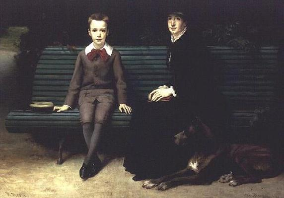 Mme Memssiere and her Son