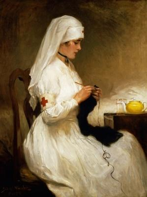 Portrait of a Nurse from the Red Cross