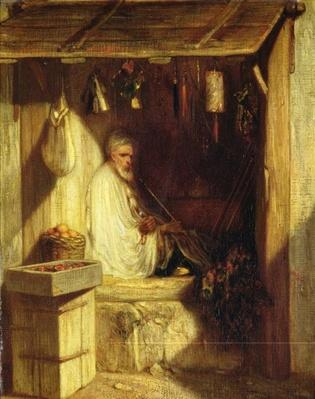 Turkish Merchant Smoking in his Shop, 1844