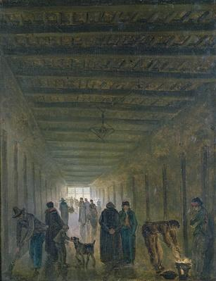 Corridor of the Saint-Lazare Prison in 1793