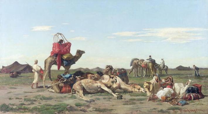 Nomads in the Desert, 1861