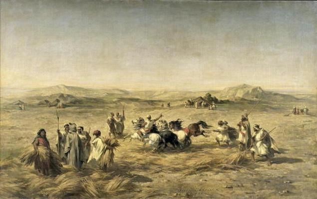 Threshing Wheat in Algeria, 1853