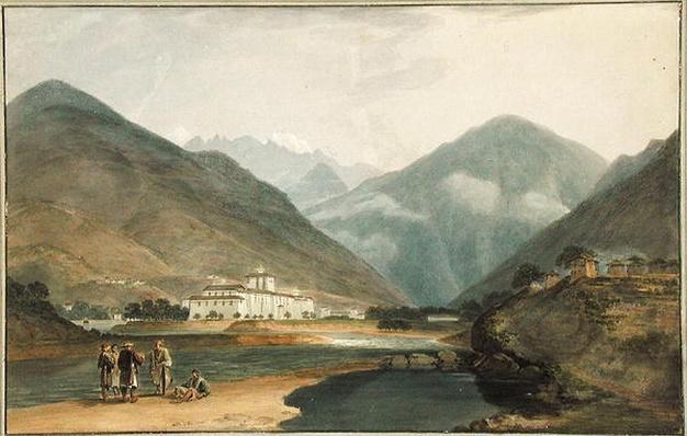 The Former Winter Capital of Bhutan at Punakha Dzong, 1783