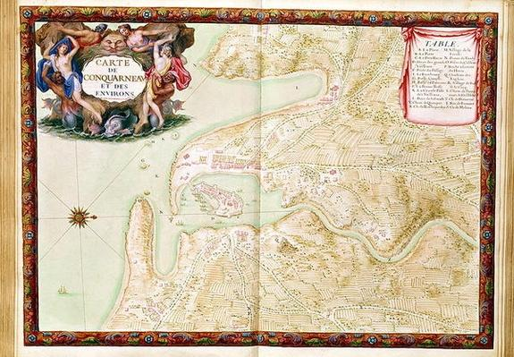 Ms 988 volume 3 fol.31 Map of Concarneau, from the 'Atlas Louis XIV', 1683-88