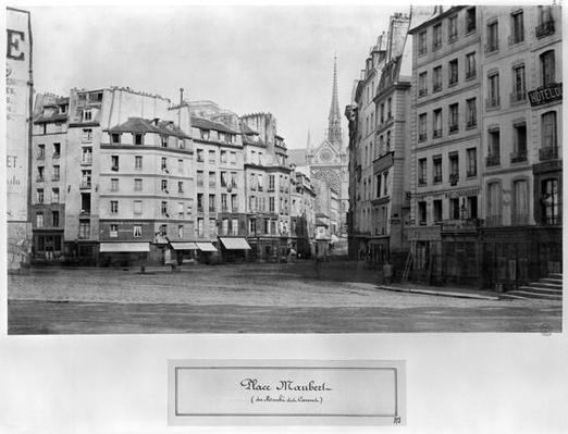 Place Maubert from the Marche des Carmes, Paris 1858-78
