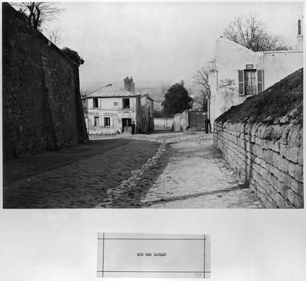 Rue des Saules, Paris, 1858-78