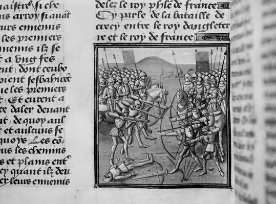 The Battle of Crecy in 1346 from Froissart's Chronicles