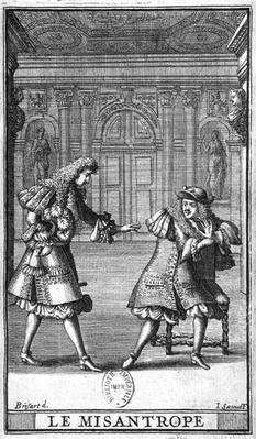 Scene from 'Le Misanthrope' by Moliere