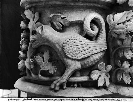 Basilisk, capital from Cathedral of Notre Dame at Reims