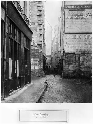 Rue Tirechape, from rue de Rivoli, Paris, 1858-78