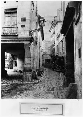 Rue Chanoinesse, from rue des Chantres, Paris, 1858-78