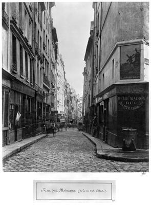 Rue des Moineaux, from Rue des Orties, Paris, 1858-78