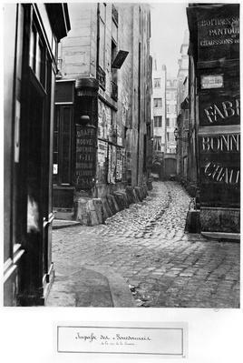 Impasse des Bourdonnais, from rue de la Limace, Paris, 1858-78