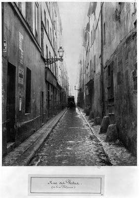 Rue des Vertus, from rue Phelippeaux, Paris, 1858-78