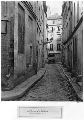 Cul-de-sac Saint-Ambroise, from rue du Haut-Pave, Paris, 1858-78