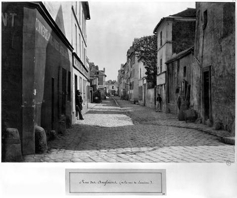 Rue des Anglaises, from rue de Lourcine, Paris, 1858-78