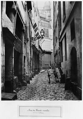 Rue du Haut Moulin, from rue de Glatigny, Paris, 1858-78