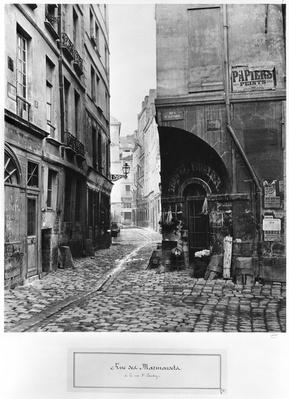 Rue des Marmousets, from rue Saint-Landry, Paris, 1858-78