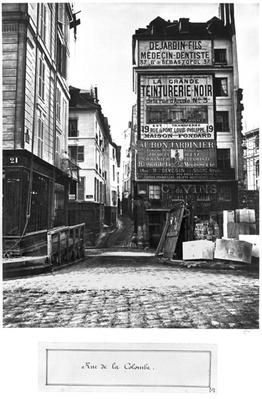 Rue de la Colombe, Paris, 1858-78