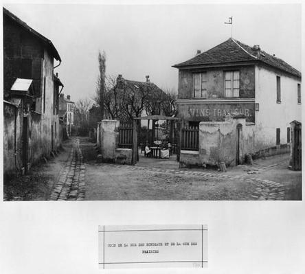 Corner of rue des Rondeaux and rue des Prairies, Paris, 1858-78